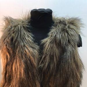 Sanctuary Couture Brown Faux Fur Vest Size L